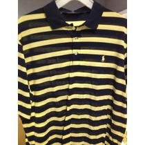 Camisa Polo Golfe Ralph Lauren Listrada Usa L =egg 74cmx60cm