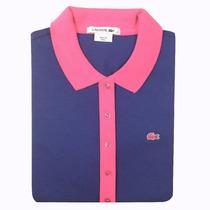 2513 - Camisa Polo Lacoste Feminina M Curta - Algodão Pima