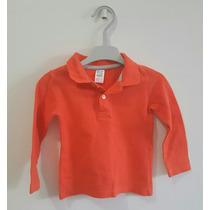Camisa Polo Importada Zara Manga Longa Infantil Menino