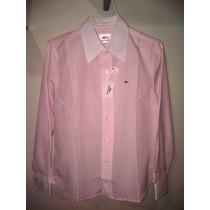 Camisa Social Feminina Rosa Marca Famosa Tm G - Importada