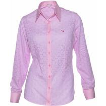 Camisa Feminina Ayla Em Lese - Pimenta Rosada