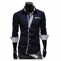 Camisa Social Masculina Luxo Slim Fit Feita Pra Voce