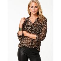 Camisa Feminina Leopardo Selvagem