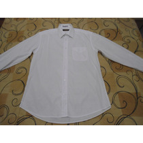 Camisa Social Brooksfield Tamanho 43 = G Branca Otimo Estado