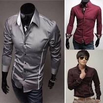 Camisas Sociais Masculinas Social Slim Fit - Pronta Entrega
