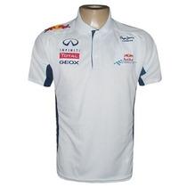 Camisa Red Bull Formula 1 Racing Team Gola Polo Branca