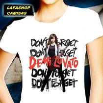 Camiseta Demi Lovato Camisa Baby Look Feminina Moca Pop Rock