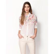 Camisa Feminina Estampa Floral Importada! Pronta Entrega!