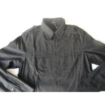 Camisa M.officer-manga Longa-tam.1-preta.modelo Diferenciado