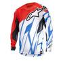Camisa Alpinestars Techstar 15 Vent Verm/bco/azul G(l) Rs1