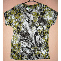 Camisa, Blusa Estampada De Liganete -tam Gg =120 Cm De Busto