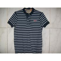 Camisa Polo Listrada Hollister Tamanho Pp 72cm X 48cm