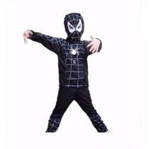 Roupa Fantasia Infantil Venom Spider Man Homem Aranha Preto