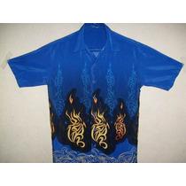Linda Camisa Estampada Hawaii Lual Tamanho Pp 68cm X 48cm
