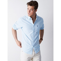 Camisa Masculina Social Listrada American Eagle Gg Importada