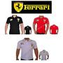 Linda Camisa Camiseta Polo Ferrari Tecido Piquet Confort