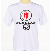 Camiseta Flyleaf Banda Rock Evangélica Baby Look Manga Curta