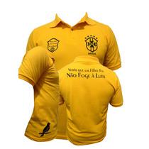 Camisa Pólo Seleção Brasileira Copa 2014 Personalizada