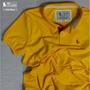 Camiseta Polo Masc S&f Amarela Original Qualid. De Importada