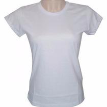 Camiseta Baby Look Feminina Para Sublimação Atacado 50 Unid