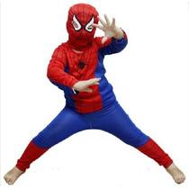 Fantasia Homem Aranha Infantil Spiderman Festa Frete Grátis