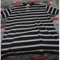 Camisa Polo Aleatory Original Listrada Azul Branca Vermelha