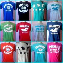 Camisetas Hollister E Abercrombie Lote C/50 Peças!