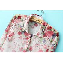 Camisa Feminina Floral Estampada - Pronta Entrega