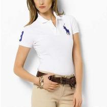 Camiseta Polo Camisa Feminina - Ralph Lauren P M G Gg. Linda