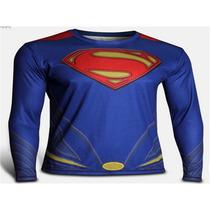 Camisa Superman Proteção Solar Manga Longa. Frete Grátis.