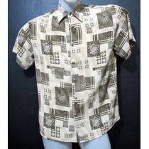 Camisa Microfibra Estampa Geometrica Grafismo Usa Unica