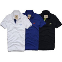 Kit C/ 5 Camisa Camiseta Polo Masculina Hollister