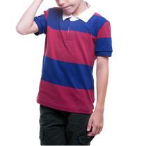 Camisa Polo Listras Rugby Roupa Infantil Menino Reserva Mini