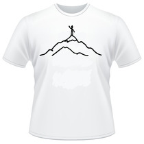 Camiseta Desenho Alpinista Simples Camisas Engraçadas Legais
