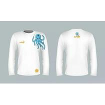 Pacote De 40 Camisas Manga Longa Wheke Com Proteção Uv