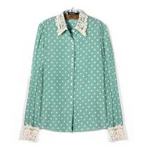 Camisa Social Feminina Polka Dots