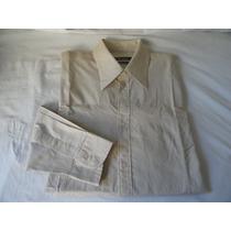 Camisa Zara Sport Manga Longa-tamanho L- Bege