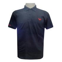 Camisa Polo Armani Preta Ref Ea41