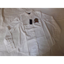 Camisa Social Tommy Hilfiger Tamanho P Com Bordado