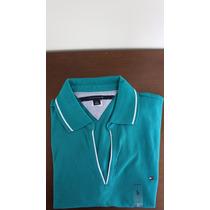 Camisa Tipo Polo Da Tommy Hilfiger Com Gola Em V Feminina