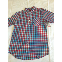Camisa De Botão Quadriculada Xadrez Surf Quiksilver Tam. M