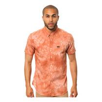 Rvca Mens O Que Vai Fazer Tye Dye Ss Botão De Camisa