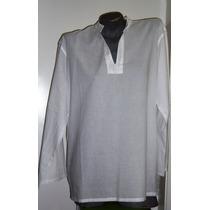 Batas Bordadas Pretas Ou Brancas Masculinas- 100% Algodão-