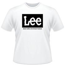 Camisa Sublimada Engraçada Branca Lee Mas Não Intendi