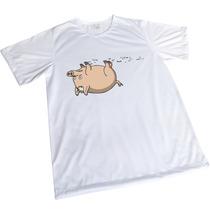 Camisa Sublimação Engraçada Branca Presente Porco Aranha