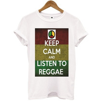 T- Shirt Keep Calm And Listen To Reggae