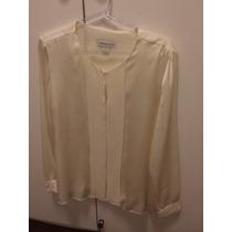 Camisa Social De Seda Off White