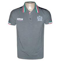 Camisa Polo Armani Cinza Escuro Ea307