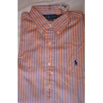 Camisa Polo Ralph Lauren Longa G 16 1/2 34-35 Linda Nova