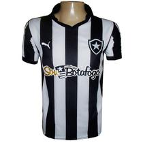 Camisa Botafogo Preta E Branca Listrada